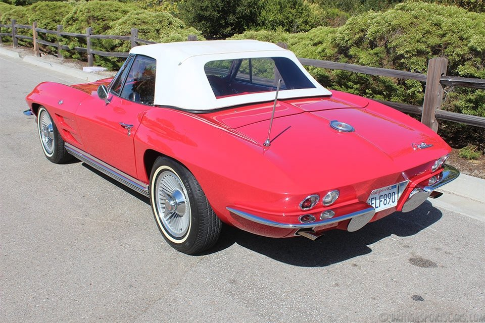 1964 Corvette Convertible = 327 Auto Red 65k miles $37.5k For Sale (picture 3 of 6)