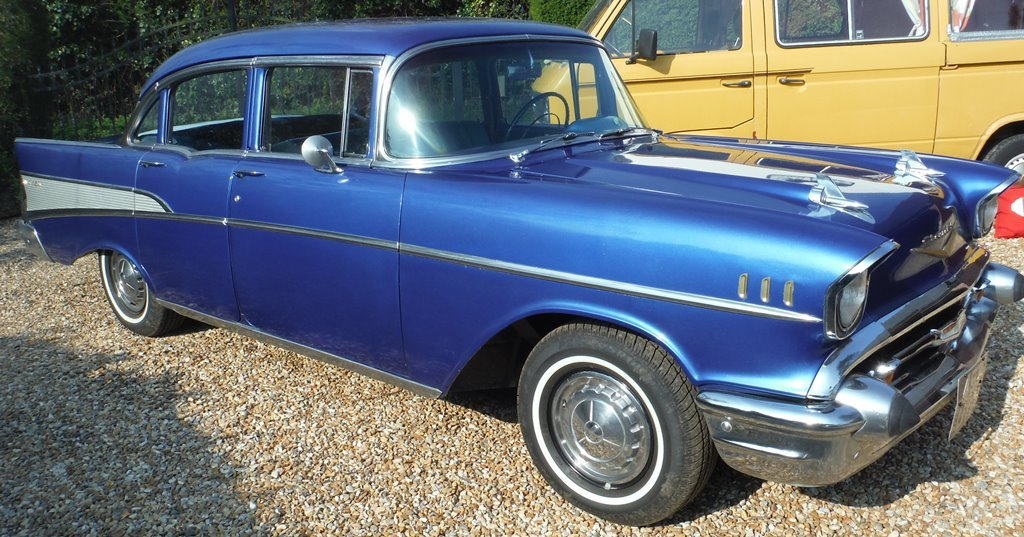 1957 Chevrolet (Chevy) Bel Air 4 door sedan SOLD  For Sale (picture 1 of 6)