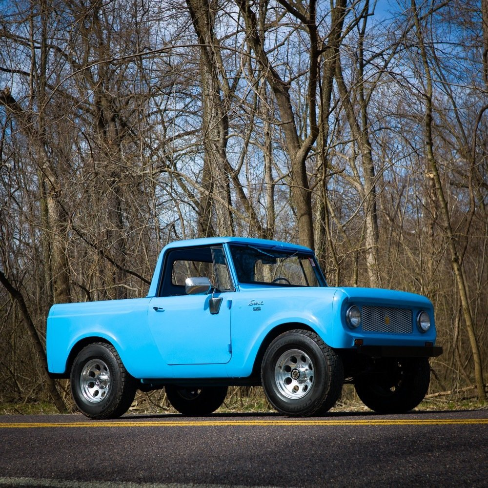 1965 International Harvester Scout 80 4×4 = Blue driver $obo For Sale (picture 1 of 6)