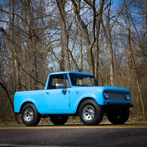 1965 International Harvester Scout 80 4×4 = Blue driver $obo