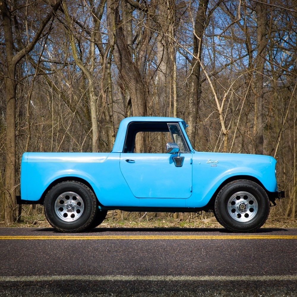 1965 International Harvester Scout 80 4×4 = Blue driver $obo For Sale (picture 3 of 6)