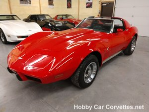 1977 red Corvette Black Interior Automatic For Sale