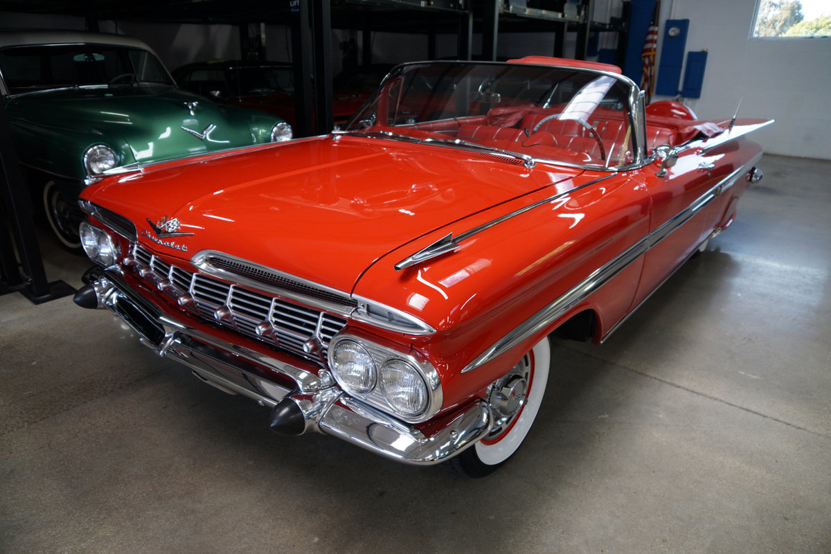 1959 Chevrolet Impala 348 3x2BBL V8 Convertible For Sale (picture 1 of 6)