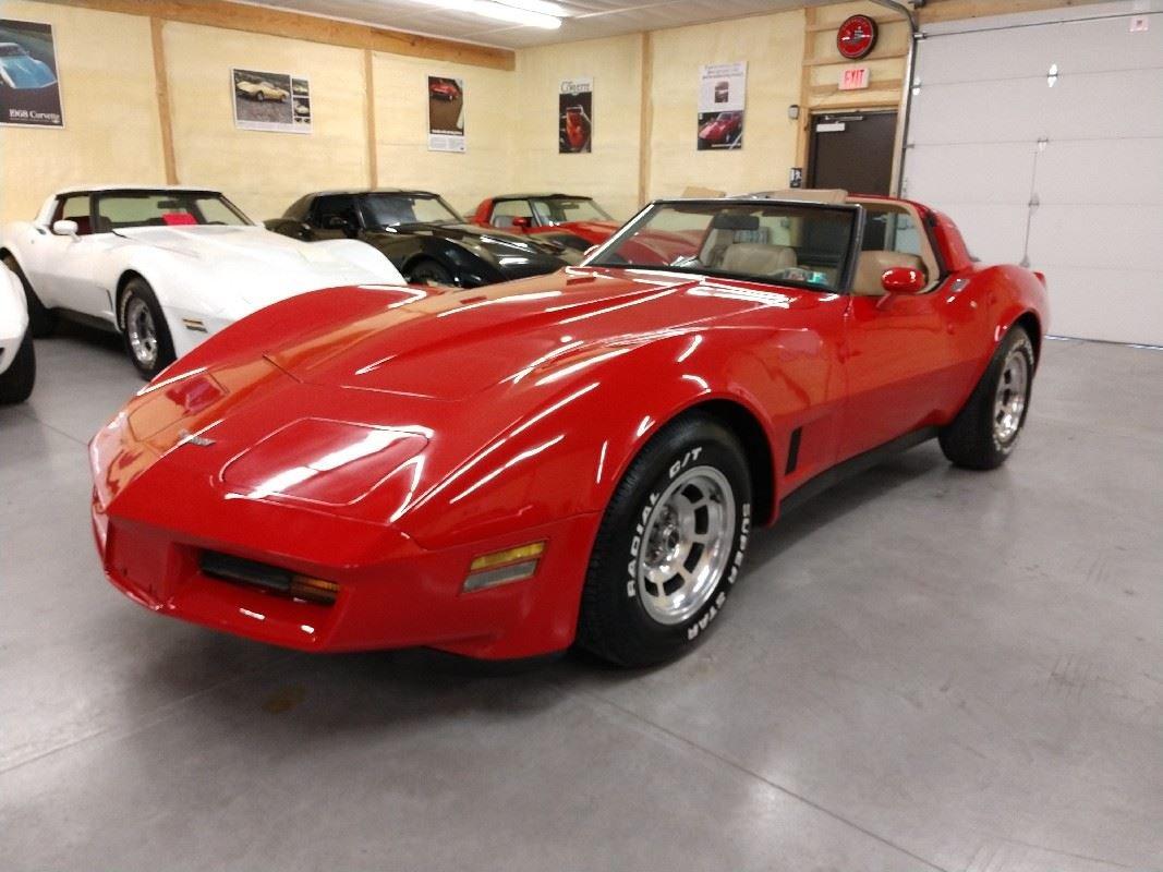 1980 Red Corvette Tan Interior For Sale For Sale (picture 1 of 6)