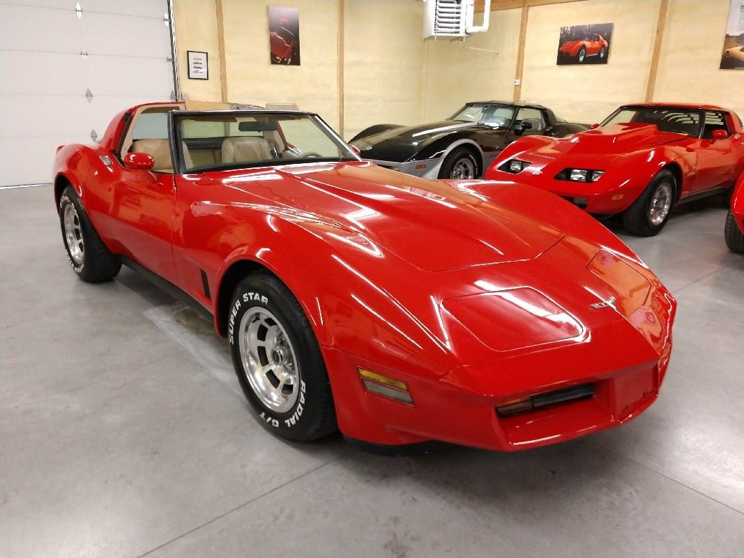 1980 Red Corvette Tan Interior For Sale For Sale (picture 2 of 6)
