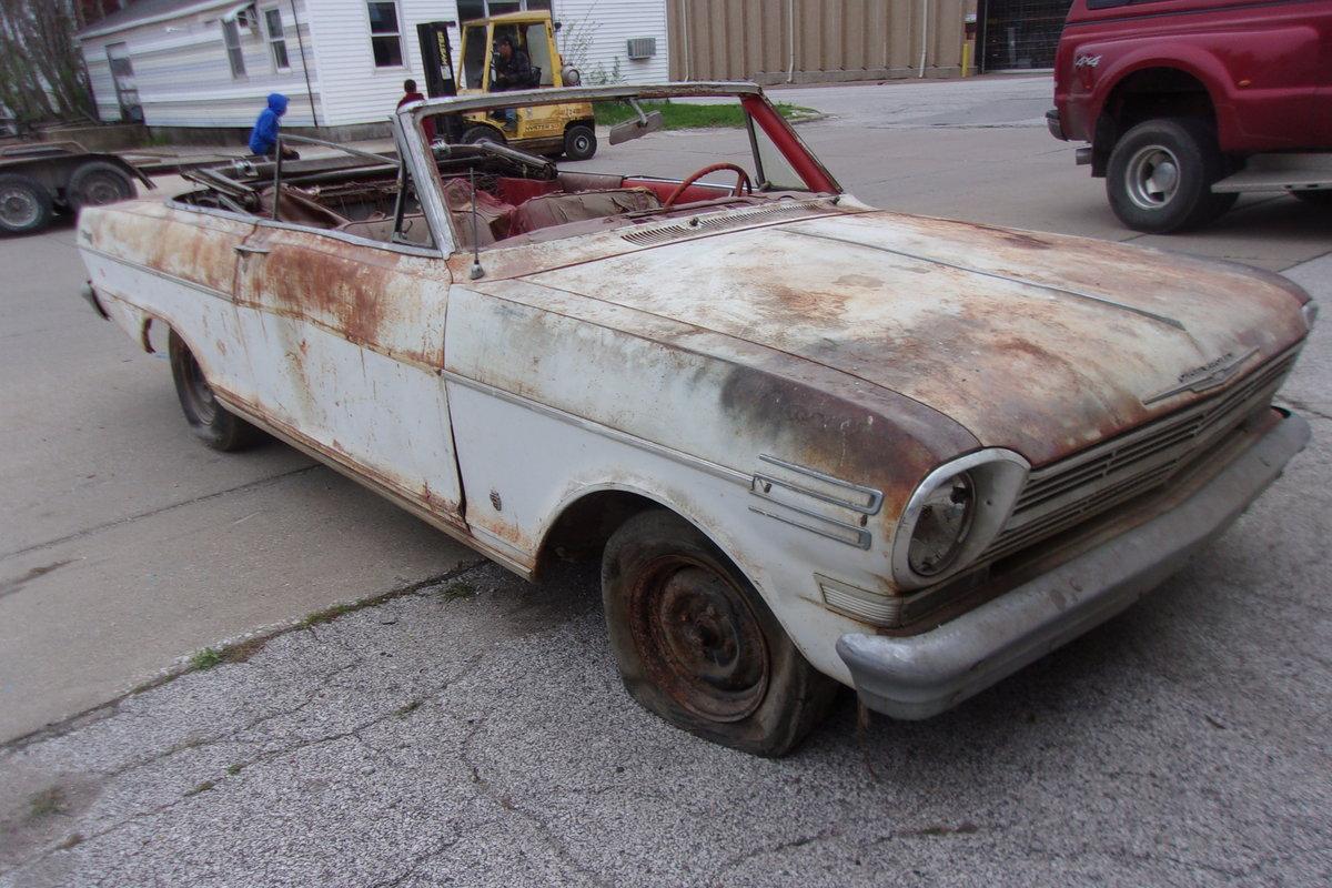 1962 Chevrolet Nova Convertible $2000 USD For Sale (picture 1 of 6)
