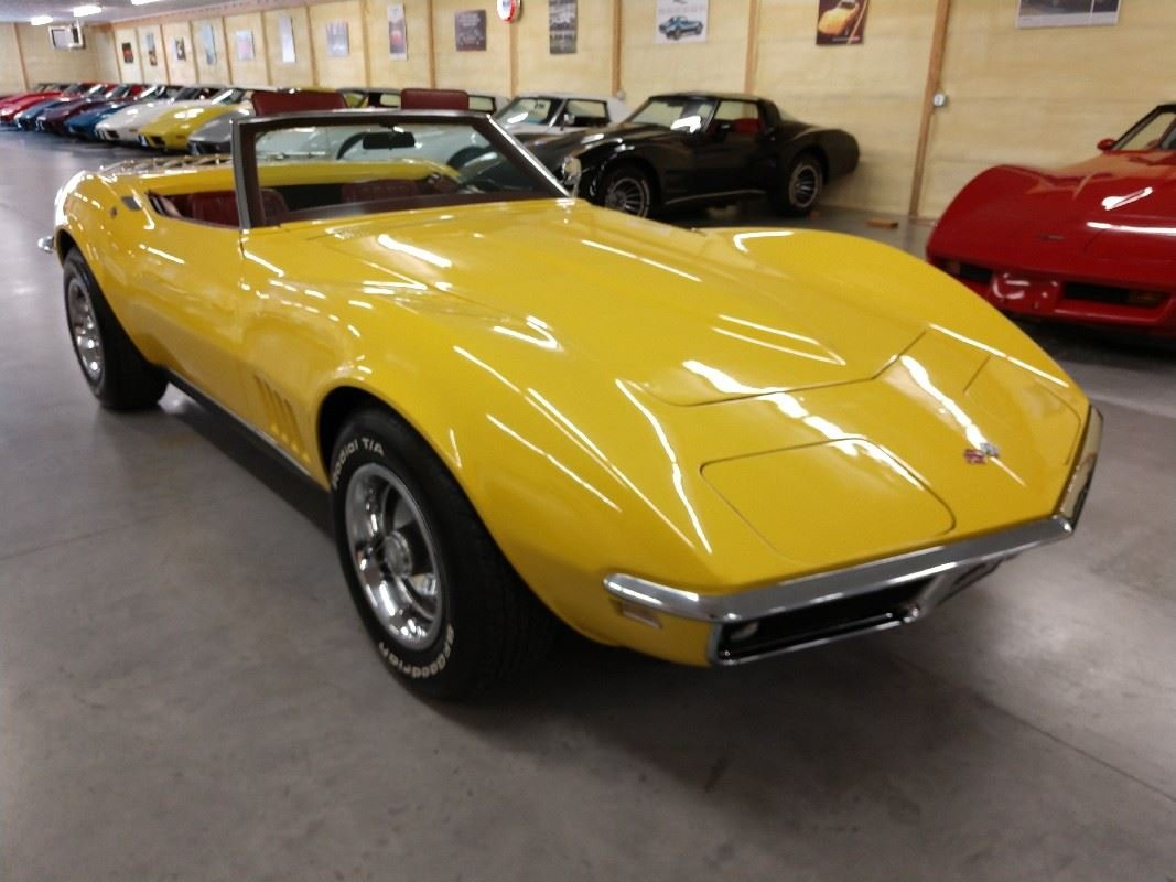 1968 Yellow Corvette Convertible Automatic For Sale (picture 2 of 6)