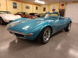 Picture of 1969 Blue Blue Corvette Convertible 4spd 350Hp 2 Tops For Sale