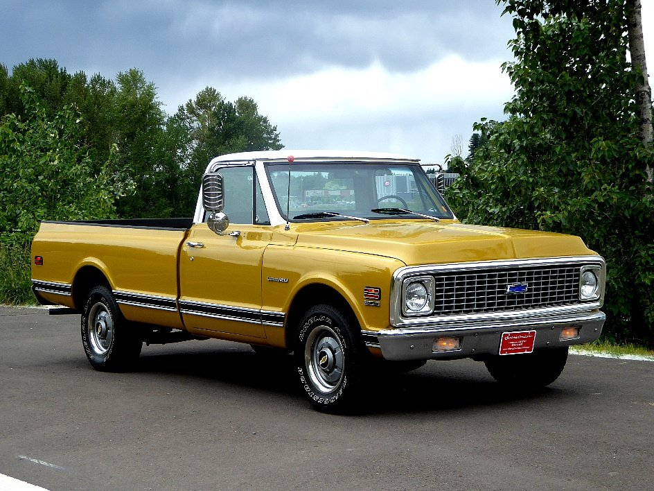 1972 chevy Custom C-20 = 350 auto clean driver Gold  $13.5k For Sale (picture 1 of 6)