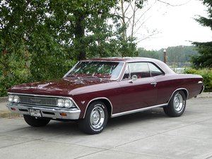 1966 Chevy Chevelle Malibu = 350 auto Restored Red $33.5k