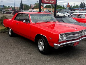 1965 Chevy Chevelle = V-8 Manual trans Red driver $obo For Sale