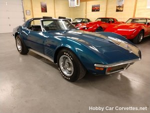 1972 Blue Corvette Black Inteior For Sale
