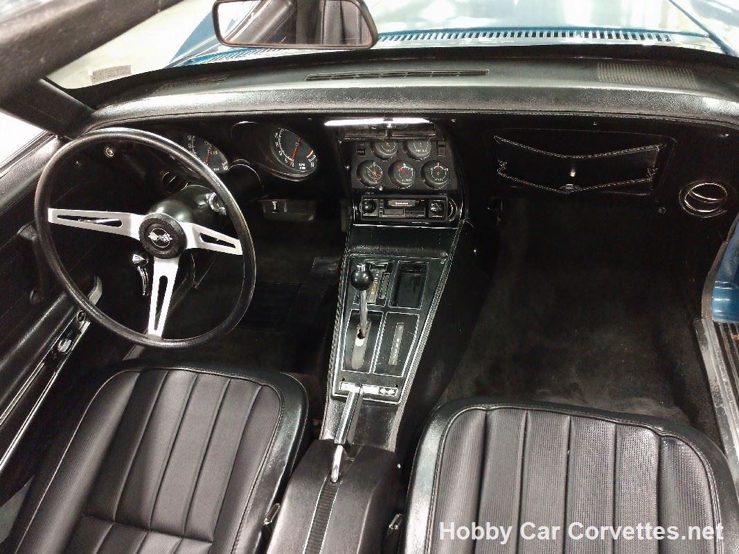 1972 Blue Corvette Black Inteior For Sale (picture 4 of 6)