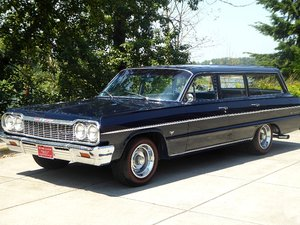 1964 Chevy Belair Wagon = 402 Blue(~)Blue Manual $24.5k For Sale
