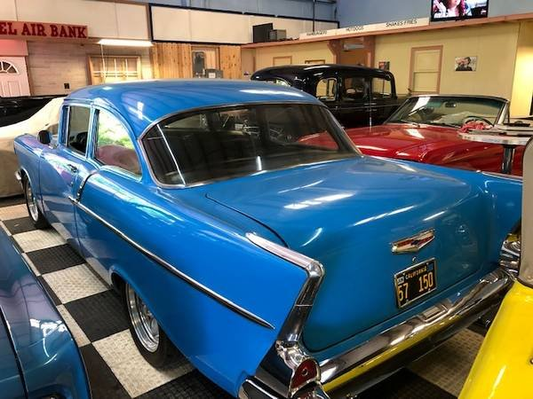 1957 Bel Air Series 150 HardTop = Restored Blue 350 Manual  For Sale (picture 3 of 6)