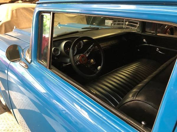 1957 Bel Air Series 150 HardTop = Restored Blue 350 Manual  For Sale (picture 4 of 6)