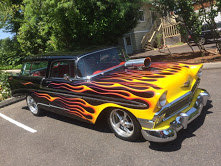1956 chevy Nomad Wagon = Restored Black Flames Blower $97k For Sale