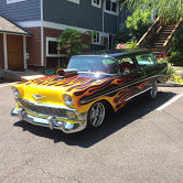 1956 chevy Nomad Wagon = Restored Black Flames Blower $97k For Sale (picture 2 of 6)
