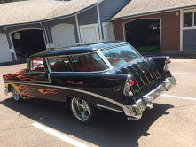1956 chevy Nomad Wagon = Restored Black Flames Blower $97k For Sale (picture 3 of 6)