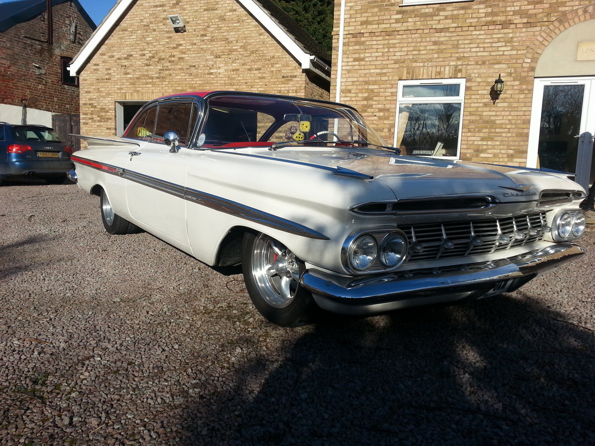 1959 chevy Impala 2 door pillarless coupe 07973 32 For Sale (picture 1 of 6)
