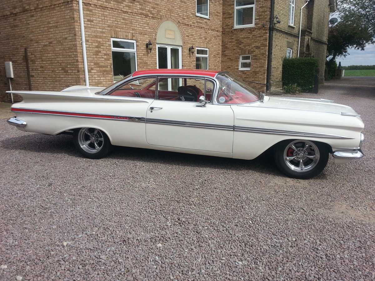 1959 chevy Impala 2 door pillarless coupe 07973 32 For Sale (picture 2 of 6)