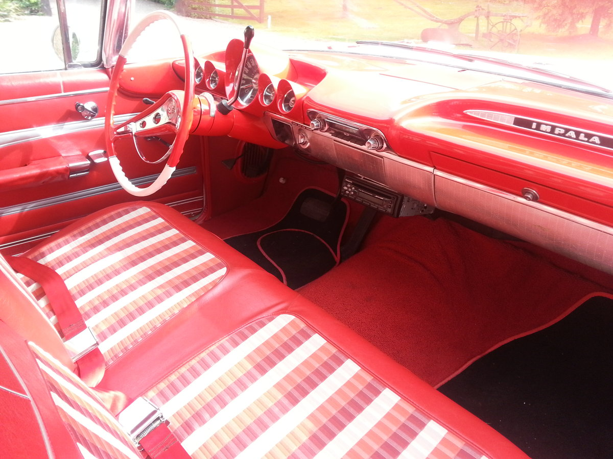 1959 chevy Impala 2 door pillarless coupe 07973 32 For Sale (picture 4 of 6)