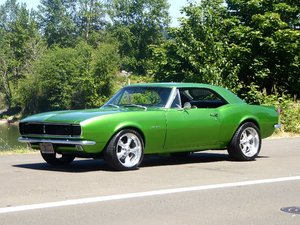 1967 Chevy Camaro Coupe = strong driver 327 Auto Green $24   For Sale