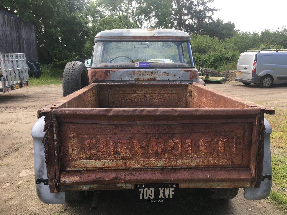 1957 chevrolet big back window v8 step side pickup For Sale (picture 2 of 6)