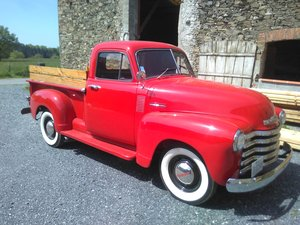 1952 Chevy 3100 pick up V8 in France with french title For Sale