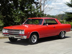 1965 Malibu Chevelle clean Red(~)Red Manual 4 discs $32.5k For Sale