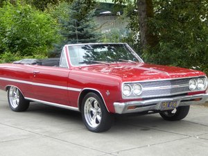 1965 Chevy Malibu Convertible = Fast 383 AutoClean Red $29.5 For Sale