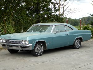 1965 Chevy Impala SS = 327 Auto Blue(~)Ivory driver $19.5k For Sale