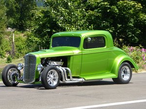 1933 Chevy COUPE Steel Restored Fast 396-300HP Green $44.5k For Sale