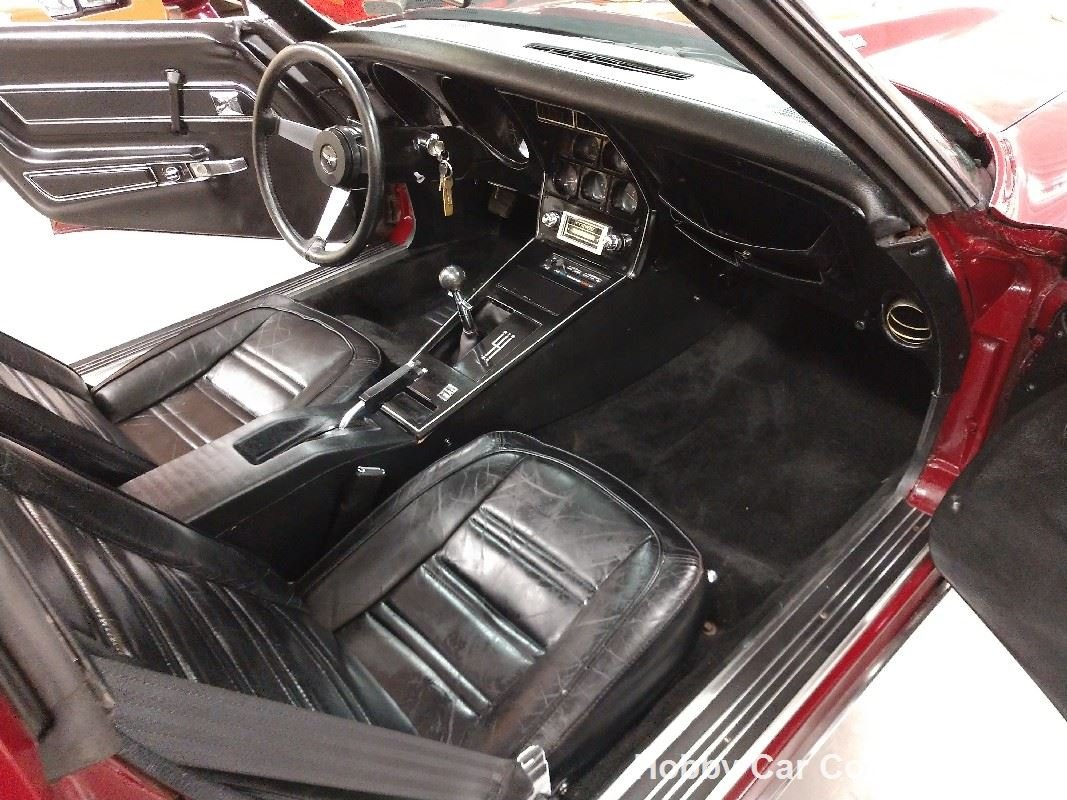 1977 Dark Red Corvette Black Interior L82 4spd For Sale (picture 5 of 6)