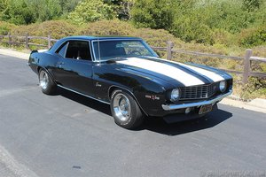 1969 Chevy Camaro Z28 = Correct 302 Manual Black $59.9k For Sale