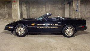 1986 Corvette Pace Car Convertible = Black 18k miles $19.9k