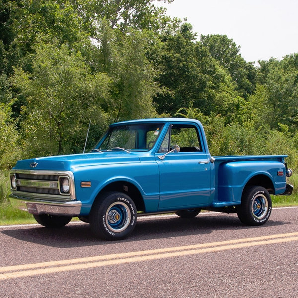 1970 Chevy Classic C10 Stepside Pickup Truck Manual Obo For