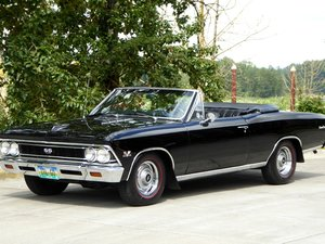 1966 Chevy Chevelle SS Convertible = 396 + Manual Black $69. For Sale