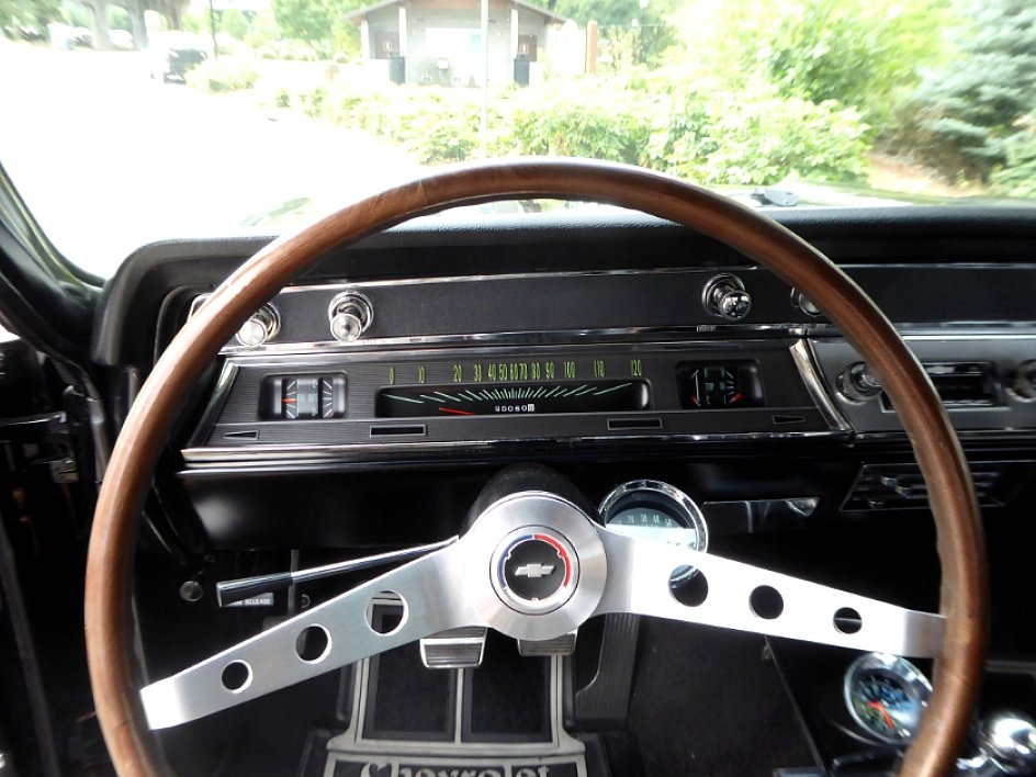 1966 Chevy Chevelle SS Convertible = 396 + Manual Black $69. For Sale (picture 5 of 6)