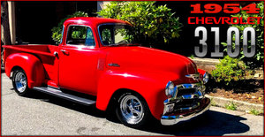 1954 Chevy 3100 Pickup Truck Step-Side Red 454(~)350 $34.9k For Sale