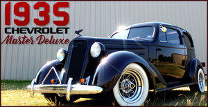 1935 Chevrolet Master Deluxe Custom Cherry 1 off 350(~)350  For Sale