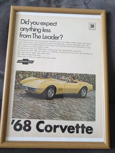 1967 Corvette Stingray advert Original US