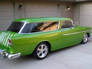 1955 Chevy Nomad Wagon Custom New LS3 Viper Green $103.5k For Sale (picture 2 of 6)