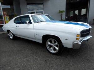 1971 Chevy Chevelle Malibu Fast 454 Auto Ivory(~)Navy $23.5k