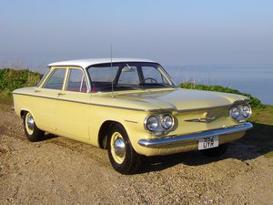 Chevrolet Corvair 700 1960 Original Red Interior Rear Flat 6 For Sale