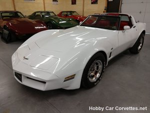 1980 White L82 Corvette Red interior For sale