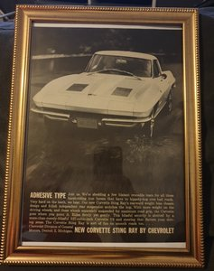 1963 Corvette Stingray Advert Original