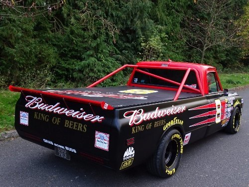 1971 Chevrolet Chevy 7.4 BUDWEISER NASCAR TRIBUTE TRUCK For Sale (picture 1 of 10)