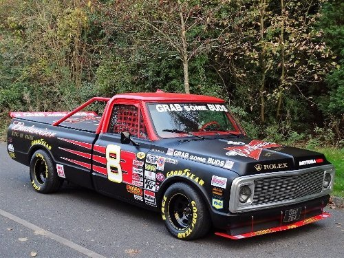 1971 Chevrolet Chevy 7.4 BUDWEISER NASCAR TRIBUTE TRUCK For Sale (picture 4 of 10)