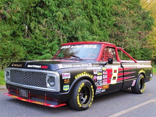 1971 Chevrolet Chevy 7.4 BUDWEISER NASCAR TRIBUTE TRUCK For Sale (picture 5 of 10)